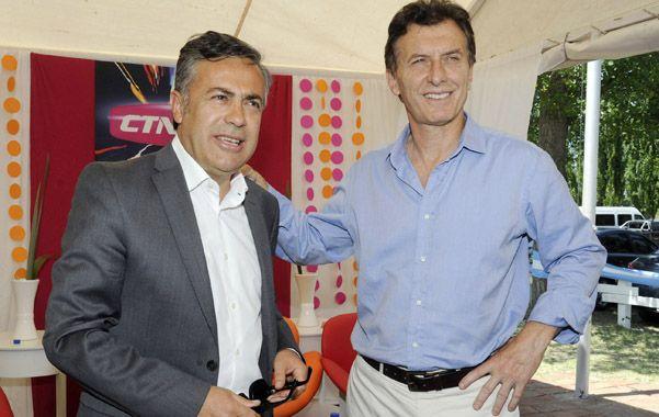 sintonía. Mauricio Macri y el gobernador electo de Mendoza