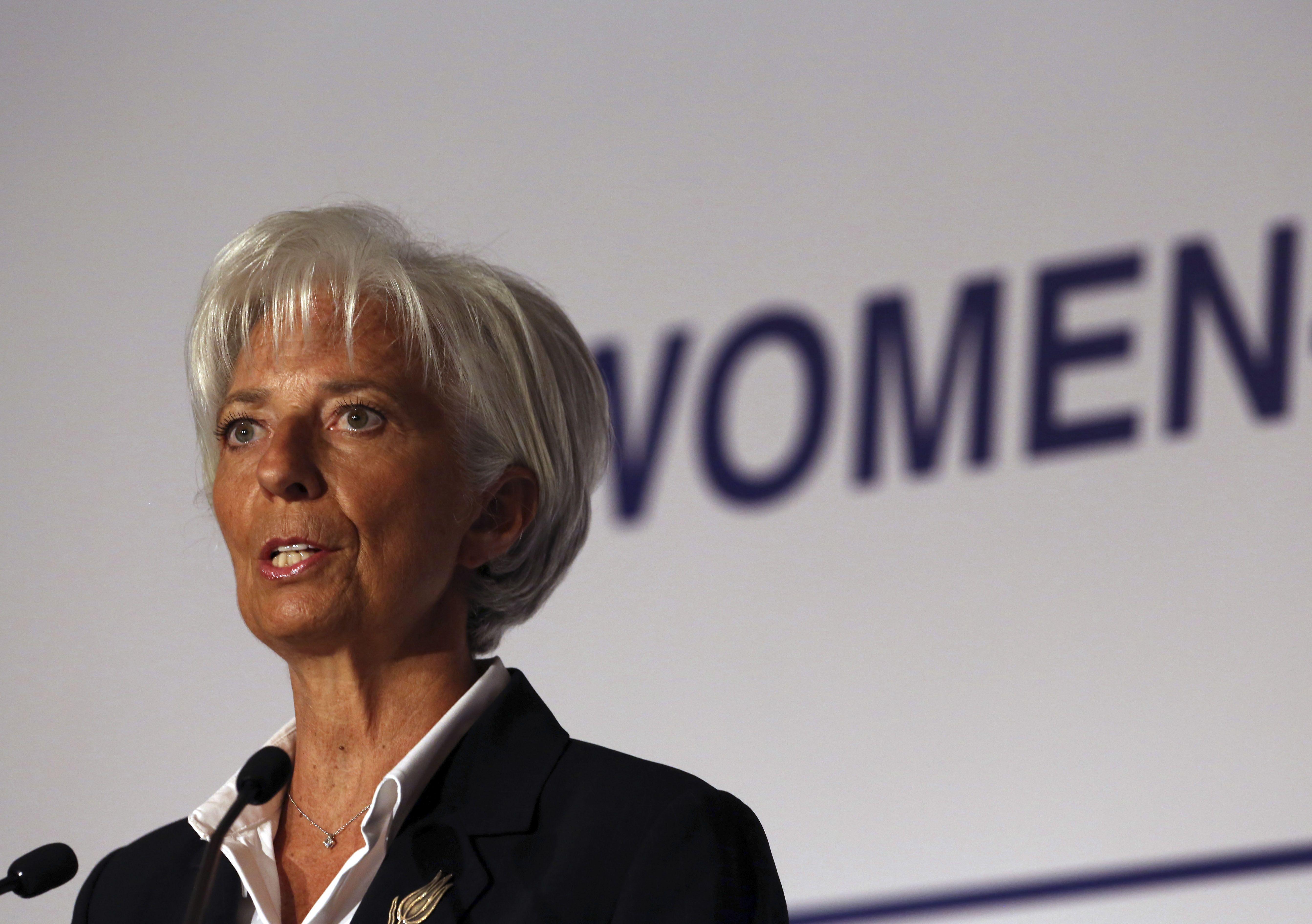 Preocupación. La jefa del FMI advirtió sobre el bajo crecimiento.
