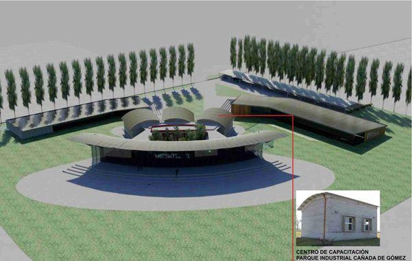 El espacio. El edificio donde funcionará el centro ya está diseñado y se emplazará en el parque industrial.