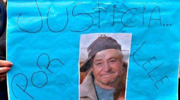 la víctima. Lele tenía 82 años y su imagen sigue circulando por el pueblo en cada marcha de justicia.