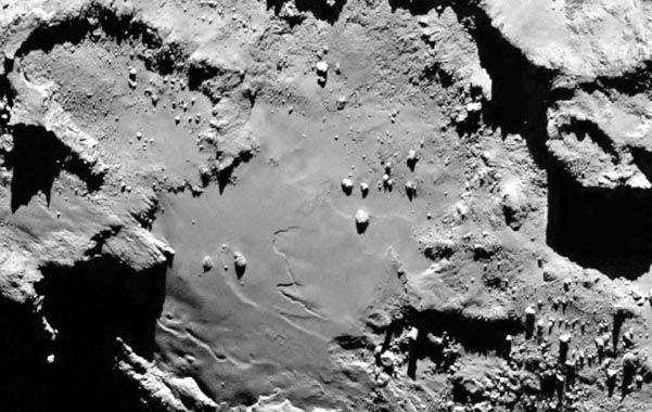 Revelador. La superficie del cometa descubierto el 11 de septiembre de 1969. (NA)