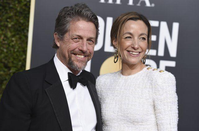 El actor junto a su esposa Anna Eberstein.