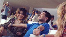 Feliz. Diego junto a Gianinna disfrutando del momento que compartían.