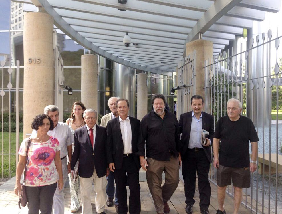 Giustiniani estuvo en la sede de YPF
