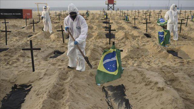 Brasil es el segundo país en superar las 300 mil muertes por coronavirus