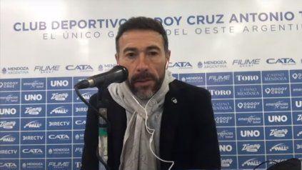 Kily González este lunes en la conferencia de prensa tras la derrota de Central ante Godoy Cruz.
