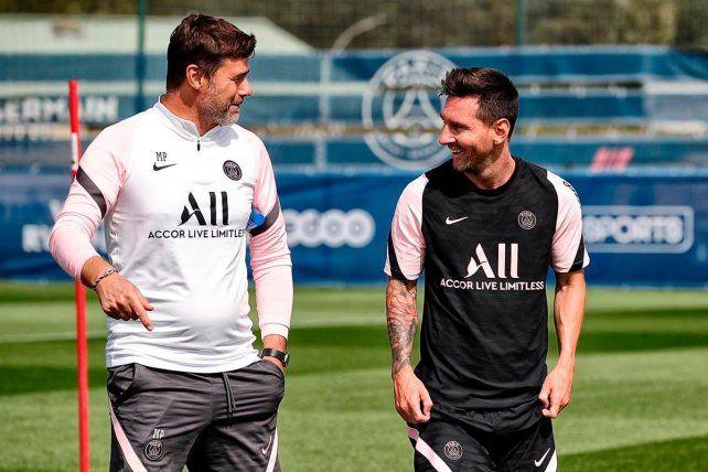 Mauricio Pochetti y Lionel Messi