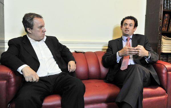El economista Miguel Peirano y el dirigente de la UIA José Urtubey. (foto: Néstor Juncos)