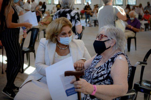 La ministra de Salud Sonia Martorano adelantó que va a pedir que se vacune a las personas con discapacidad.