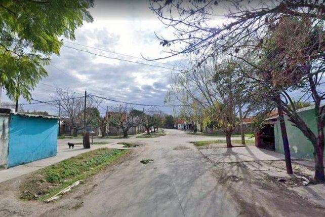 La zona del crimen en barrio Godoy