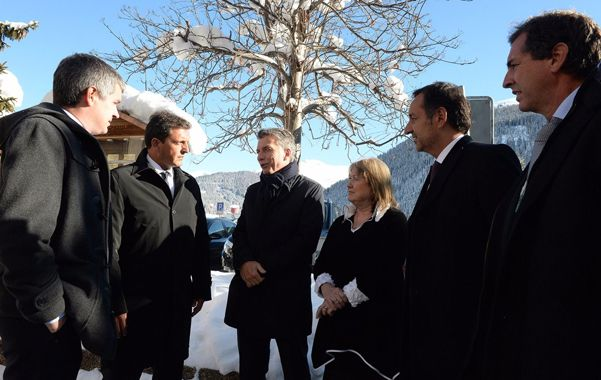 Macri y Massa demostraron buena sintonía mientras permanecieron en el Foro de Davos.