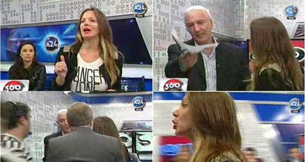 Discusión, gritos y escándalo entre Mauro Viale y una modelo