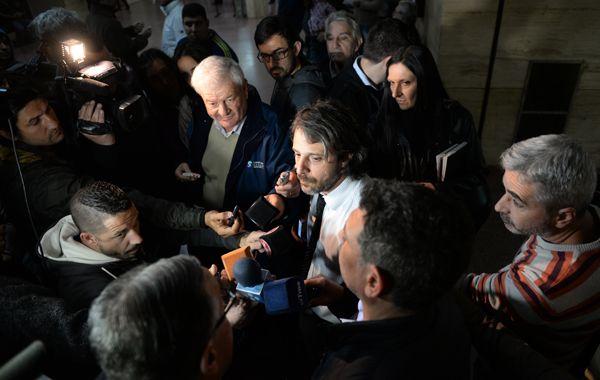 El fiscal Miguel Moreno se mostró conforme con la resolución de la jueza Cosgaya. (Foto: Silvina Salinas)