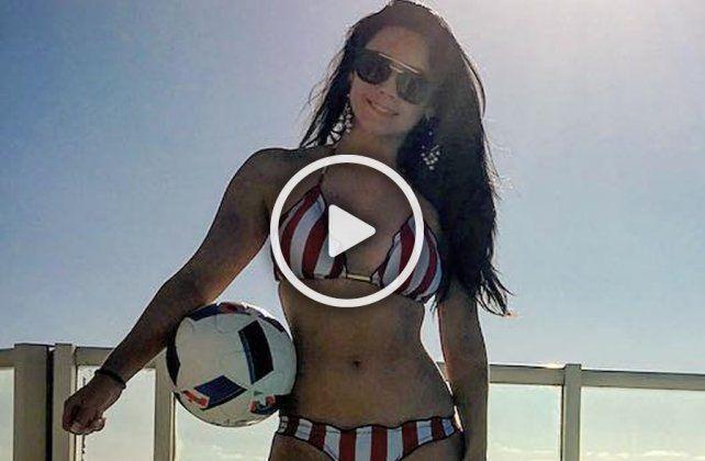 La brasileña Raquel Benetti sorprende con sus videos en la red social Instagram.