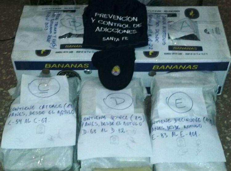 La Policía provincial secuestró 101 panes de marihuana en Reconquista