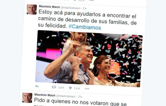 Uno de los mensajes de Mauricio Macri en la red social.