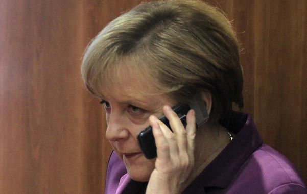 Escándalo. Merkel