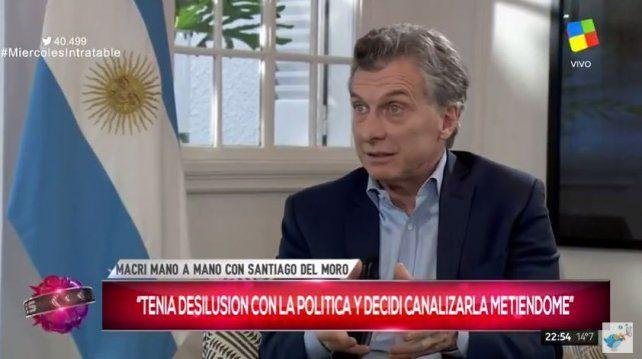 Macri dijo que Cristina tiene un problema psicológico porque cree que está al mando de Argentina