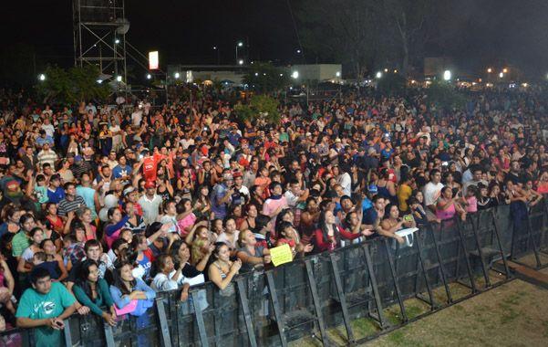 a pleno. El Parque Sur Eva Perón se llenó de público en las dos presentaciones.
