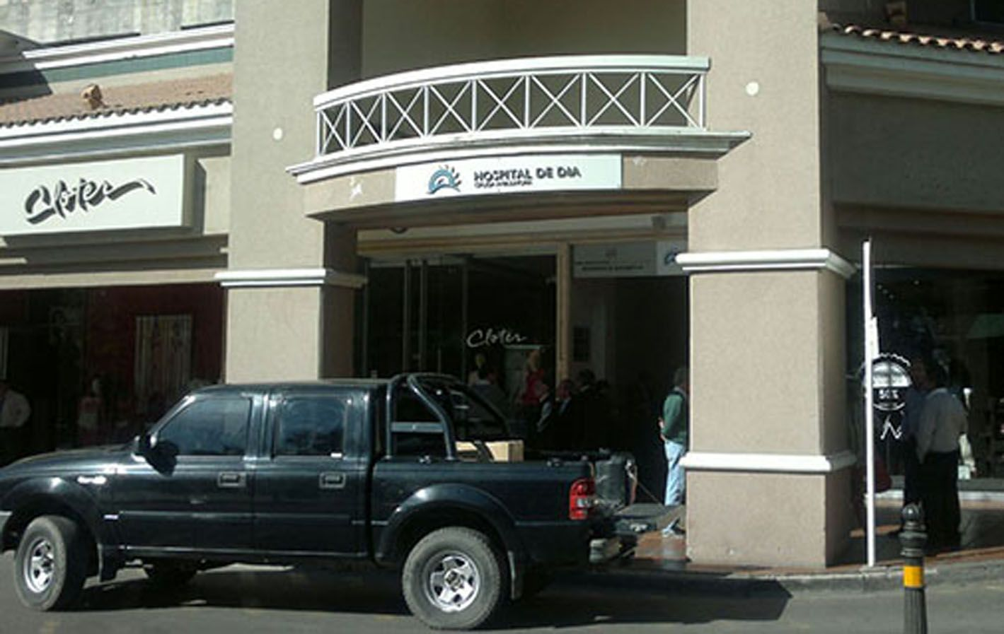 El hecho ocurrió poco después de las 13 en el Centro Médico Palmares