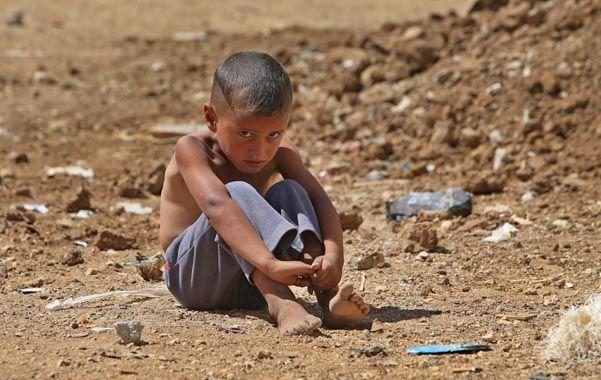 Desamparo. Un chico sirio en el campamento de refugiados del pueblo libanés de Al-Faour