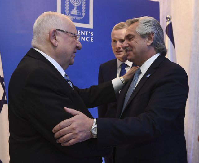 El presidente Alberto Fernándezsaluda a su par de Israel