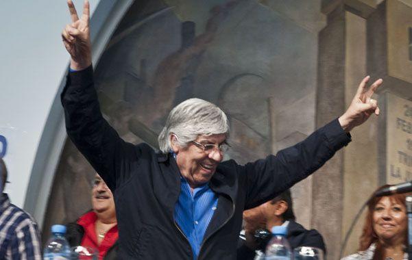 """Crítica. Moyano apuntó a los que """"aplaudieron las políticas de Menem""""."""