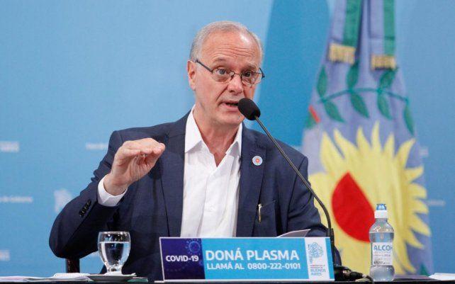 El ministro de Salud bonaerense alertó sobre el peligro que implica la variante Delta.