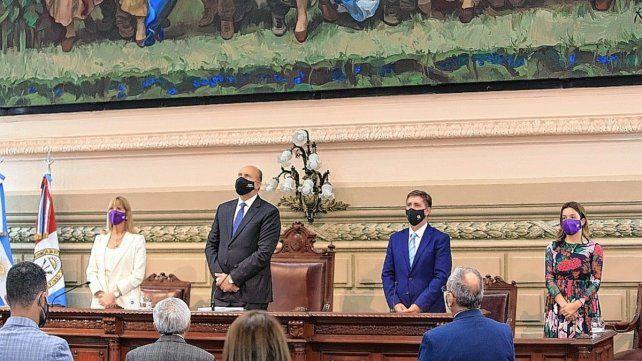 El Gobernador Omar Perotti dejó inaugurado el 139º período de sesiones ordinarias de la Legislatura y le deseó una pronta mejoría y recuperación al ingeniero Miguel Lifschitz
