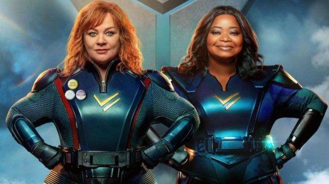 Melissa McCarthy y Octavia Spencer protagonizan la pelicula de Netflix Fuerza trueno.