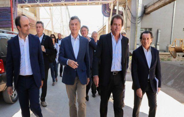 El ex presidente Mauricio Macri junto al titular de Vicentin