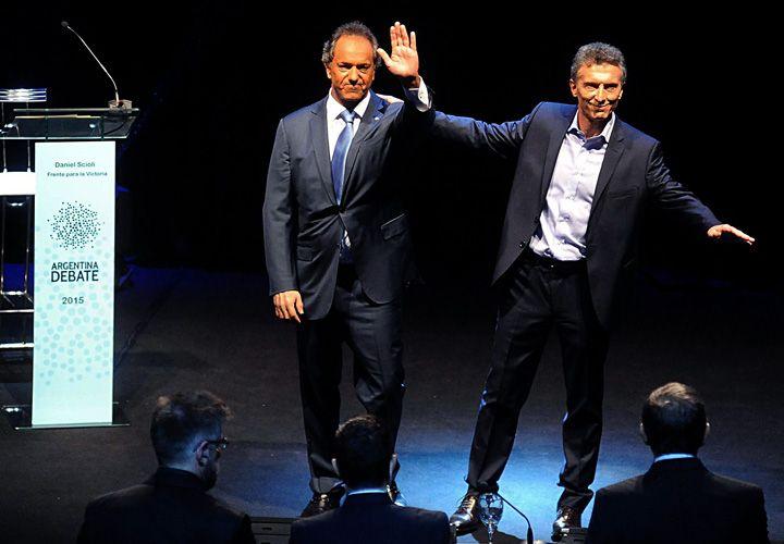Scili y Macri protagonizaron un histórico debate presidencial.
