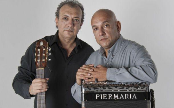 Dos virtuosos. Rudi (guitarra) y Nini (acordeón) apuestan a un chamamé sin estridencias.