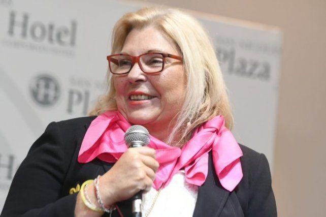 La líder de la Coalición Cívica presentó su libro Vida en San Nicolás.