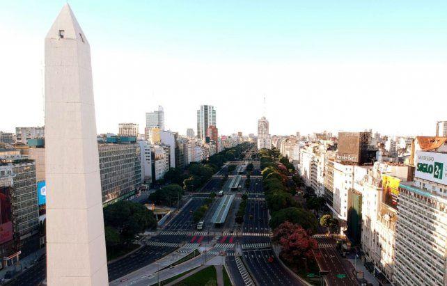 Buenos Aires. Así lucía la zona del Obelisco el 21 de marzo.