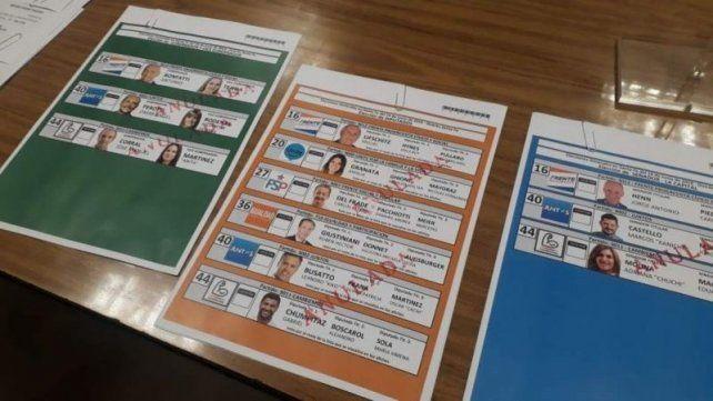 Presentaron las boletas para las elecciones provinciales del domingo