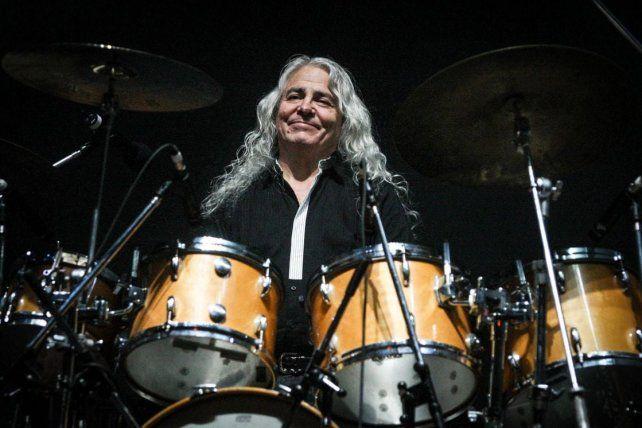 Eterno Rodolfo García. El baterista integró Almendra y Aquelarre