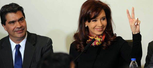 La presidente durante el acto en Casa de Gobierno.
