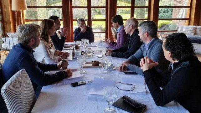 Macri encabeza una cumbre con Lacunza en Los Abrojos