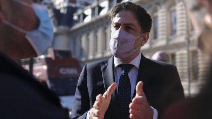 El ministro de Educación de la Nación, Nicolás Trotta, al salir de la reunión del Consejo Federal.