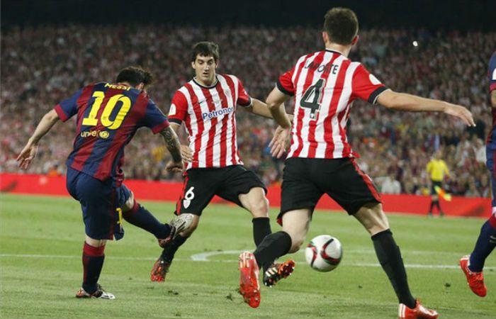 Messi ya dejó atrás a cinco jugadores del Bilbao y marca un golazo. Fue el 30 de mayo último