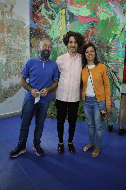 Piero Arsanto, Mauro Guzmán y Mariana Flores.