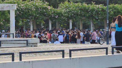 REPRESIÓN. En el Mercado del Patio la policía intervino con violencia.