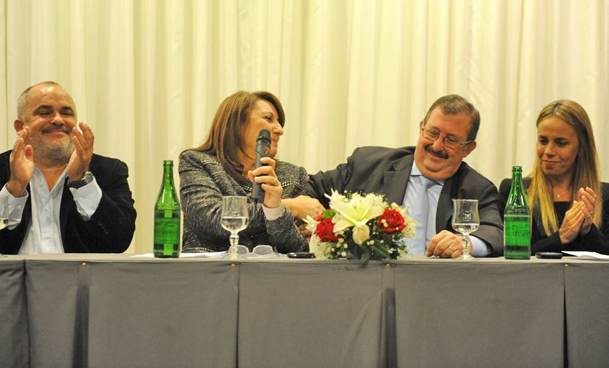 Mónica Fein reivindicó su gestión y elogió los antecedentes de sus candidatos al Concejo.