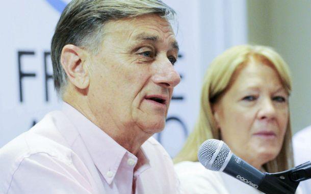Apoyo. Binner lideró el encuentro partidario en respaldo a la líder del GEN.