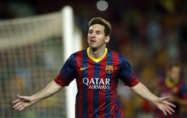 Lionel Messi abrió el camino para la goleada del equipo catalán.