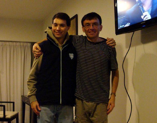 Leandro y su papá Juan