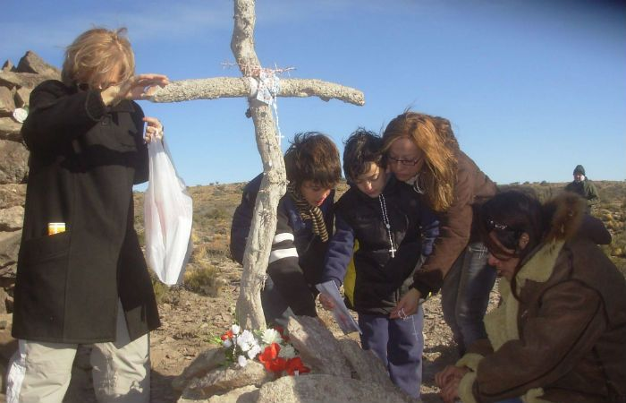 Conmemoración. Los familiares van al lugar del siniestro todos los 18 de mayo.