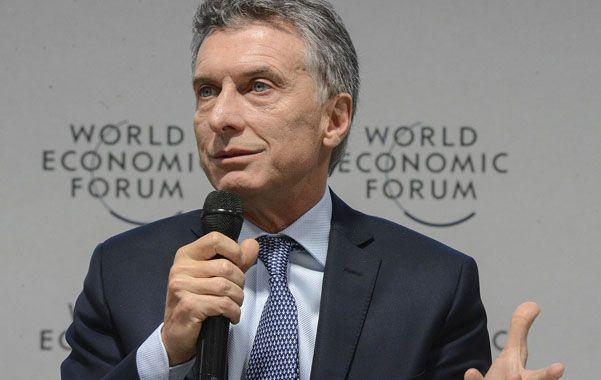 Presente en Suiza. Macri participó la semana pasada del Foro Económico Mundial que se realizó en Davos. (NA)