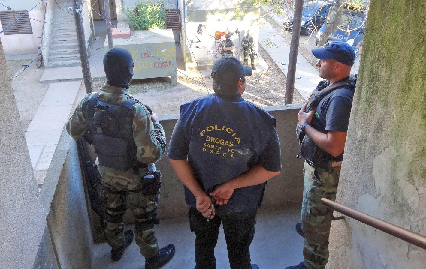 Escenario de uno de los allanamientos realizados el pasado 5 de abril en el departamento Gral. López.